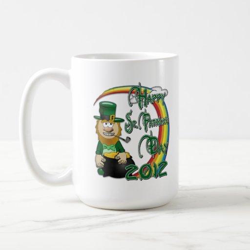 Leprechaun feliz 2012 del día del St Patricks Taza De Café