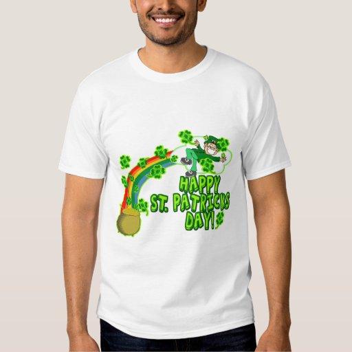 Leprechaun feliz del día del St Patricks Polera