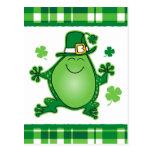 Leprechaun Frog Postcard