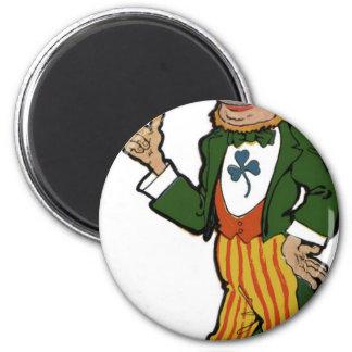 Leprechaun Gentleman 2 Inch Round Magnet