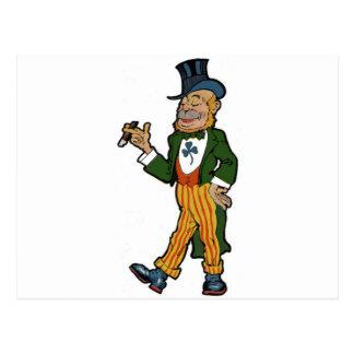 Leprechaun Gentleman Postcards