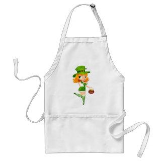 Leprechaun girl adult apron