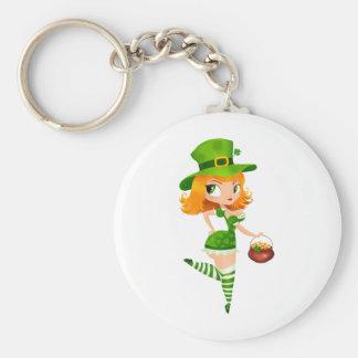 Leprechaun girl keychain