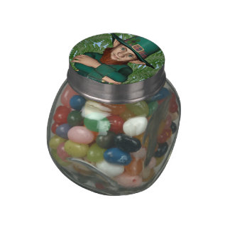 Leprechaun Glass Candy Jars