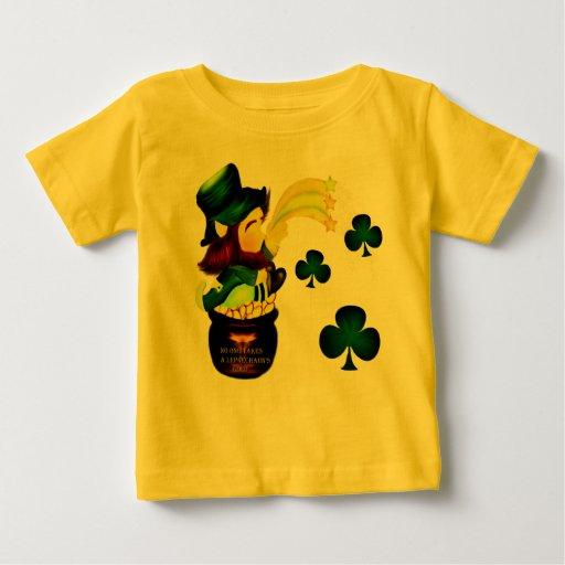 Leprechaun Gold Shamrocks T-Shirt