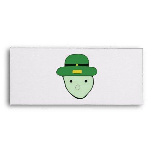 Leprechaun Green Colored Sketch Meme Envelope