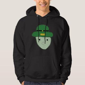 Leprechaun Green Colored Sketch Meme Hooded Sweatshirt