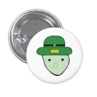 Leprechaun Green Colored Sketch Meme Pinback Button