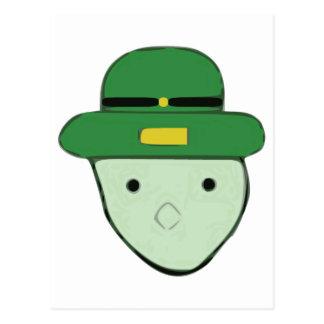 Leprechaun Green Colored Sketch Meme Postcard
