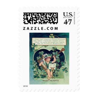Leprechaun Harp Shamrock Horn Stamp