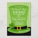 Leprechaun Hat Birthday Party Invitations