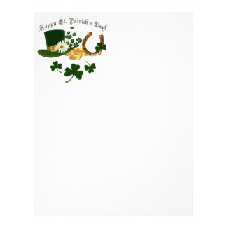Leprechaun Hat Gold Horseshoe - St Patrick's Flyer