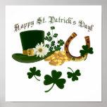 Leprechaun Hat Gold Horseshoe - St Patrick's Posters