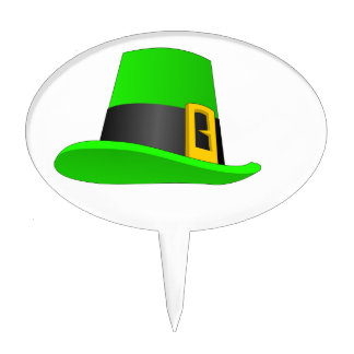 Leprechaun Hat With Buckle Cake Topper