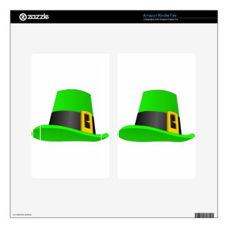 Leprechaun Hat With Buckle Kindle Fire Decals