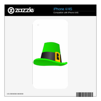 Leprechaun Hat With Buckle Skin For The iPhone 4