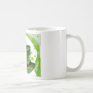 Leprechaun hats with 4 leaf clovers coffee mug