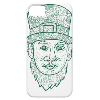 Leprechaun Head Front Mandala iPhone SE/5/5s Case
