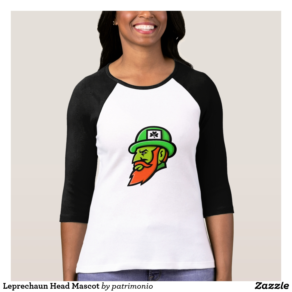 Leprechaun Head Mascot T-Shirt - Best Selling Long-Sleeve Street Fashion Shirt Designs