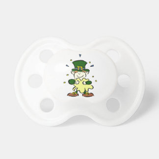 leprechaun holding clover st paddys day design png pacifiers