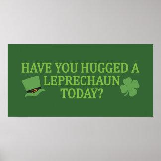 Leprechaun Hug custom poster