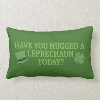 Leprechaun Hug throw pillow