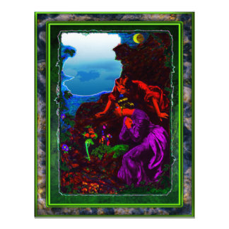 Leprechaun in moonlight Letterhead