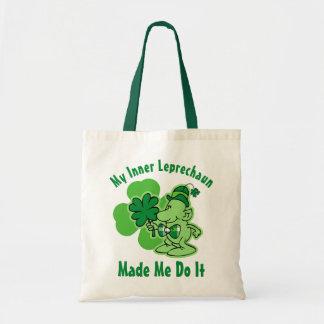 Leprechaun interno de la tela escocesa bolsas