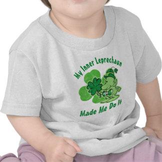 Leprechaun interno de la tela escocesa camisetas