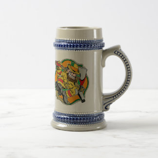 Leprechaun Irish Firefighter Beer Stein