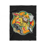 Leprechaun Irish Firefighter Fleece Blanket