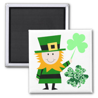 Leprechaun Irish Folklore  Fairy  Elf Art Cute Fun Magnet