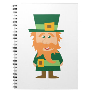 Leprechaun irlandés libreta