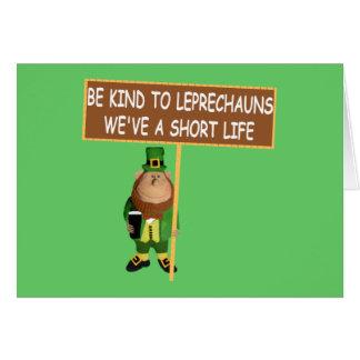 Leprechaun irlandés divertido del irlandés del lem tarjeton