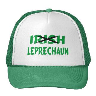 Leprechaun irlandés gorras de camionero