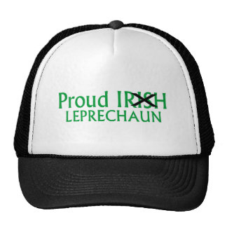 Leprechaun irlandés orgulloso gorros