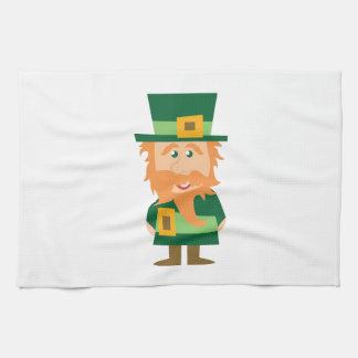 Leprechaun irlandés toallas de mano