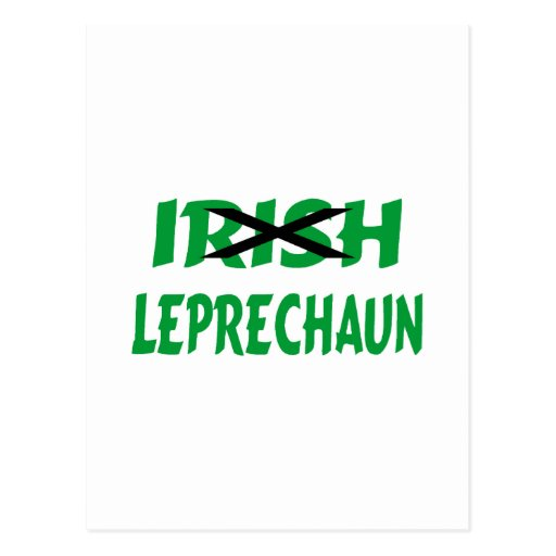 Leprechaun irlandés postal
