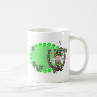 Leprechaun irlandés tazas de café