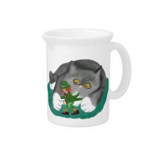 Leprechaun is between Kitten Paws Pitchers