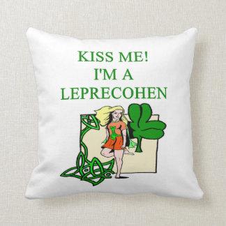 leprechaun joke throw pillow