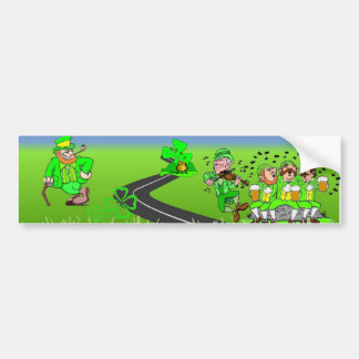Leprechaun Land Bumper Sticker Car Bumper Sticker