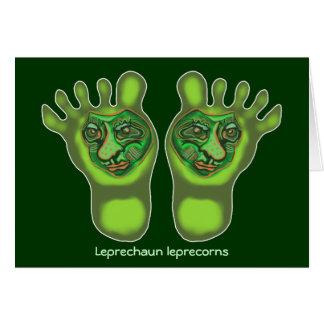 Leprechaun leprecorns card