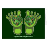 Leprechaun leprecorns greeting card
