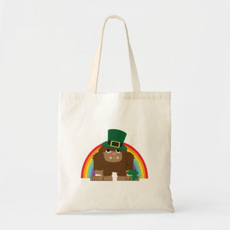 Leprechaun lindo Bigfoot Bolsa Tela Barata