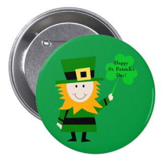 Leprechaun lindo con el Pin del día de St Patrick
