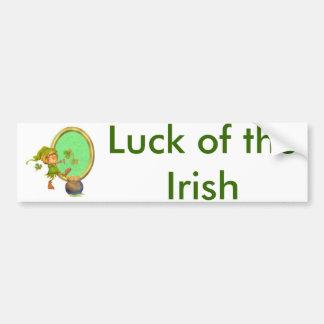 Leprechaun Luck Bumper Sticker