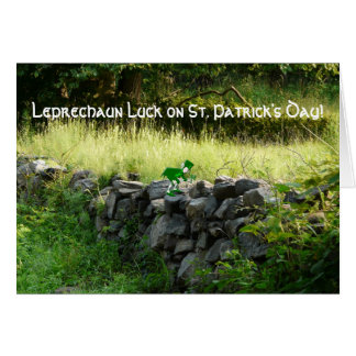 Leprechaun Luck!-Old Stone Country Wall Card