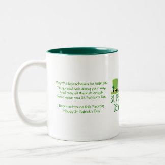 Leprechaun Luck-Verse Two-Tone Coffee Mug