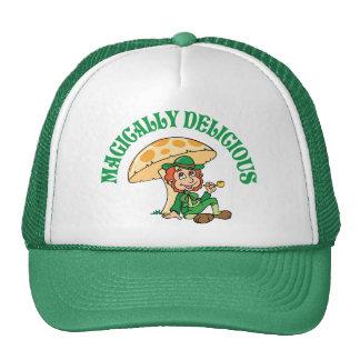 Leprechaun mágico delicioso gorras